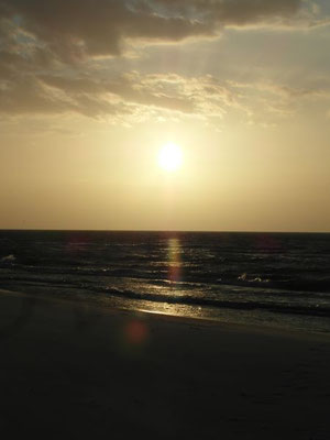 Poetycki zachód słońca w Ustce.
