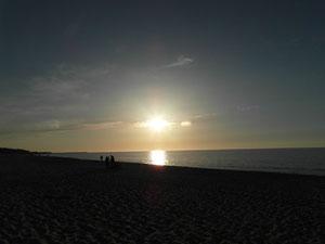 Zachód słońca w Ustce. Kwiecień.