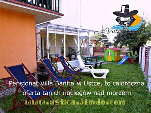 Całoroczna oferta pensjonatu Villa Banita na pokoje w Ustce.