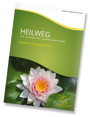 Folder Heilweg,  Dein spiritueller Heil- und Bewusstseins-Weg, berufsbegleitende Jahresausbildung
