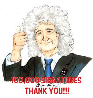 Thank you 100,000 signatures 2012 - Chiara Tomaini