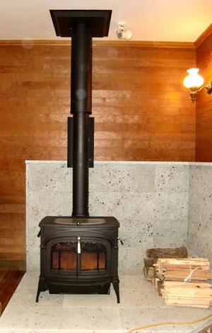 薪ストーブと自然素材の健康建材の販売店