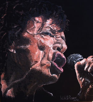 Mick Jagger, Öl  117 x 127cm