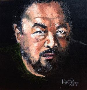 Ai Weiwei Öl 120 x 120 cm