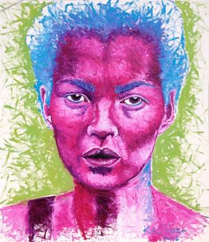Kate Moss, Öl, 110 x 130cm