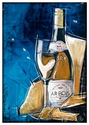 Vino Blanco Acryl auf Maltuch 60cm x 80cm