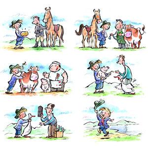 Schulbuchillustration Illustration