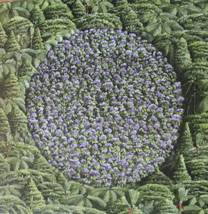 Crop circle 1,400 x400mm.Oil on canvas.