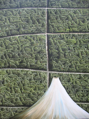 Taranaki,  1070 x840mm, oil on canvas.