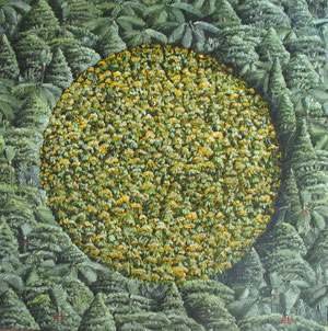 Crop circle II,400 x400mm,oil on canvas.