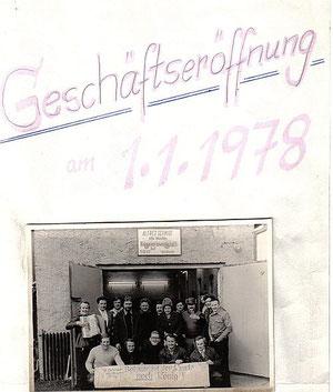 Geschäftseröffnung am 01.01.1978