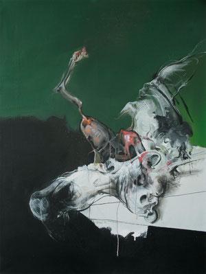 Acrylique/pastel sur toile Dim: 130cmx97cm
