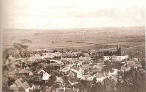 Luftaufnahme von Mödring aus dem Jahr 1918