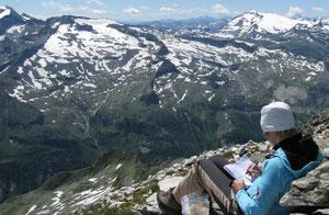 Auf dem Großen Hafner (3076m), Sommer 2009