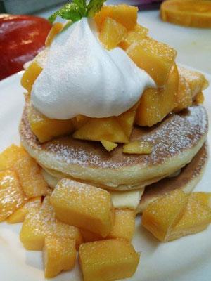 みやざき完熟マンゴーのホットケーキ