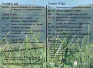 programme fête de l'alpage 18 et 19 août 2012 gresse en vercors