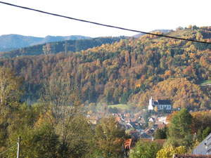 vue vers le village