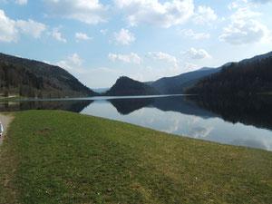 le lac et le Schlossberg