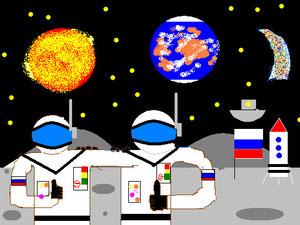 Астронавты на Луне (Харченко Е.)