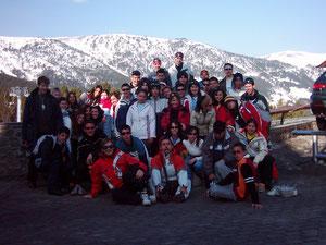 Esquiando en Andorra 2004