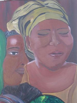 """Auschnitt meines Bildes """"Lied für Afrika"""""""