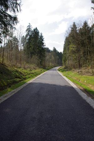Die Straße von Ornes in Richtung Louvemont
