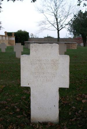 Grabstein des Infanteristen Georg Jäger
