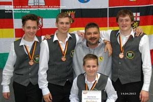 Mannschaftsmedaille DJM 2012