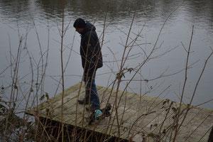 Frank und ich am Seeufer