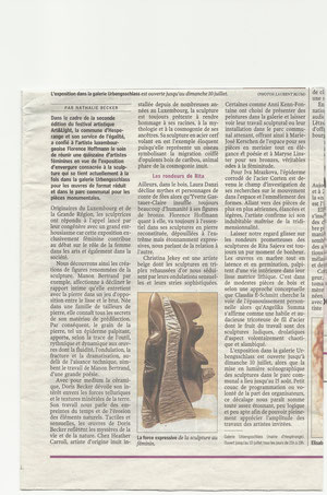 Art & Light, Hesperange 2011  article Lux. Wort