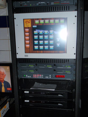 10-fach Displaysteuerung inkl.TV-Sender Selektion über Touchmonitor