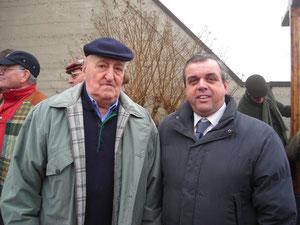 """ZANGANI CON IL MITICO GREGARIO DI COPPI ANDREA """"SANDRINO"""" CARREA"""