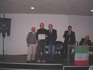 LA PREMIAZIONE DEL CS ORTOVERO CAMPIONE PROVINCIALE DI CICLOTURISMO