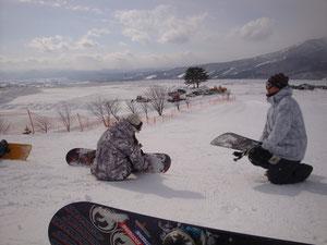 スノーボードクラブ風景