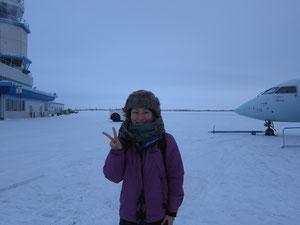 マイナス30℃の世界で記念写真