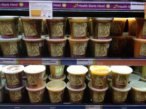 種類豊富なオーガニックスープ