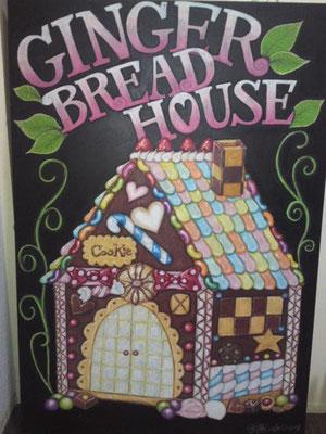お菓子の家 60㎝×90㎝