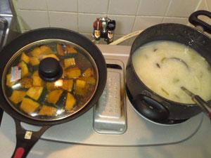 かぼちゃと中華粥