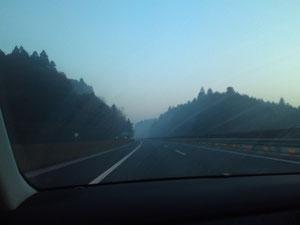 うわ!!霧すごい。