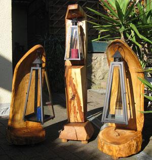 Windlichter (2x Kirsche 100cm,1x Apfelbaum 130cm)