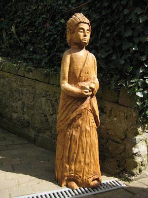 Buddhafigur aus Eiche 120cm
