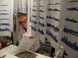 Claire Mabille dans son atelier