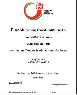Durchführungsbestimmungen des Hamburger Fußballverbandes
