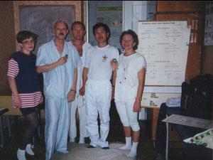 Киев,2000г. Мои курсанты сдавали экзамен Сайонжи.Юн Дью второй слева.