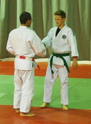 Paul und Landestrainer Philippe Tosseng