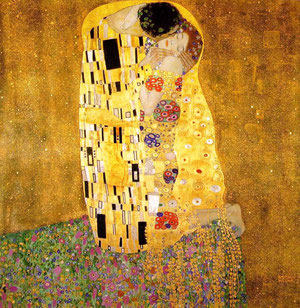 Klimt, Le Baiser, 1907-1908.