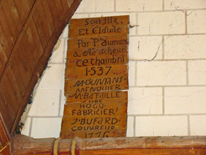 Plaque de remerciements pour la rénovation du lambris. © TEMPLE DE PARIS