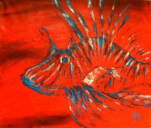 Lionfish Acryl  auf Leinwand 70x60cm