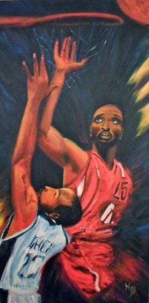 basket Acryl  auf Leinwand 100x50cm