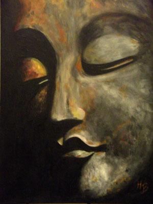 Buddha Acryl auf Leinwand